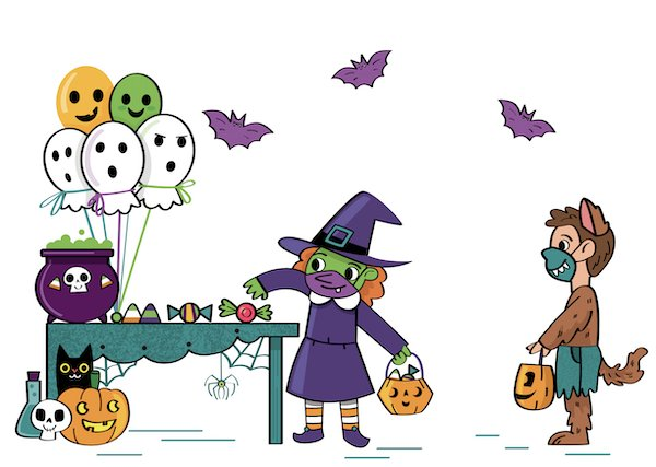 Trick or Treating illustration